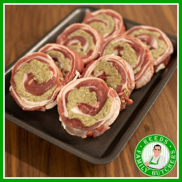 Buy a £10 tray of Stuffed breast of Lamb online from Reeds Family Butchers