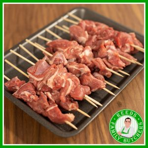 Buy a £10 tray of Lamb Kebabs online from Reeds Family Butchers