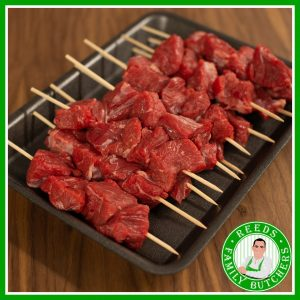 Buy a £10 tray of Beef Kebabs online from Reeds Family Butchers