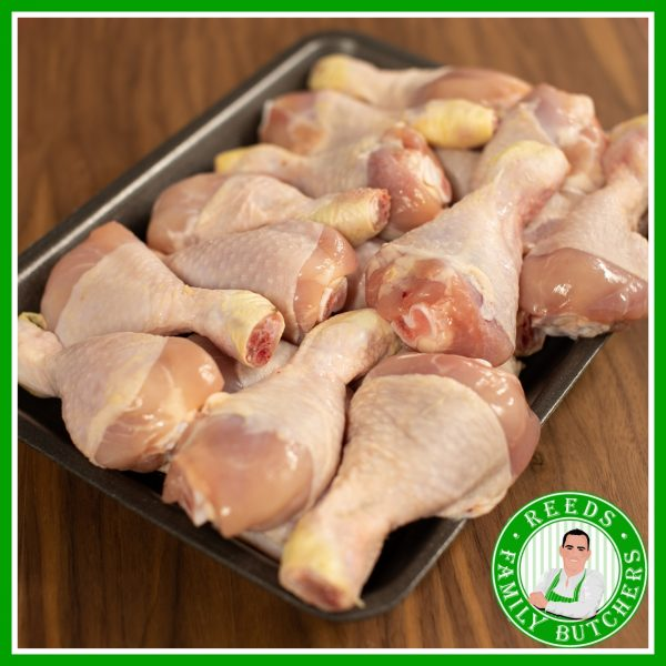 Buy a £10 tray of Chicken Drum sticks online from Reeds Family Butchers
