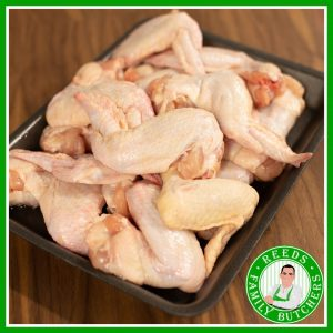 Buy a £10 tray of Jumbo Chicken Wings online from Reeds Family Butchers
