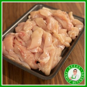 Buy a £10 tray of Chicken Strips online from Reeds Family Butchers