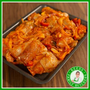 Buy a £10 tray of Chicken Stirfry online from Reeds Family Butchers