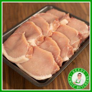 Buy a £10 tray of Boneless Pork Steaks online from Reeds Family Butchers