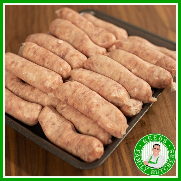 Buy a £10 tray of Sausages online from Reeds Family Butchers