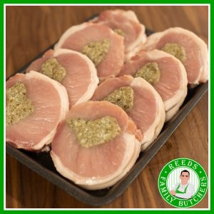 Buy a £10 tray of Stuffed Pork Loin online from Reeds Family Butchers