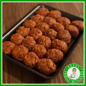 Buy a £10 tray of Meatballs online from Reeds Family Butchers