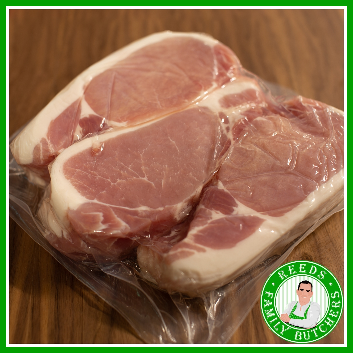 Buy a £10 tray of Smoked Back Bacon online from Reeds Family Butchers