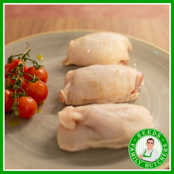 Buy Boneless Skin On Chicken Thighs x 8 online from Reeds Family Butchers