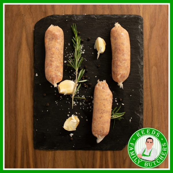 Buy Pork & Chorizo Sausages - 8 Pack online from Reeds Family Butchers