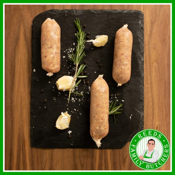 Buy Pork, Chilli & Garlic Sausages - 8 Pack online from Reeds Family Butchers