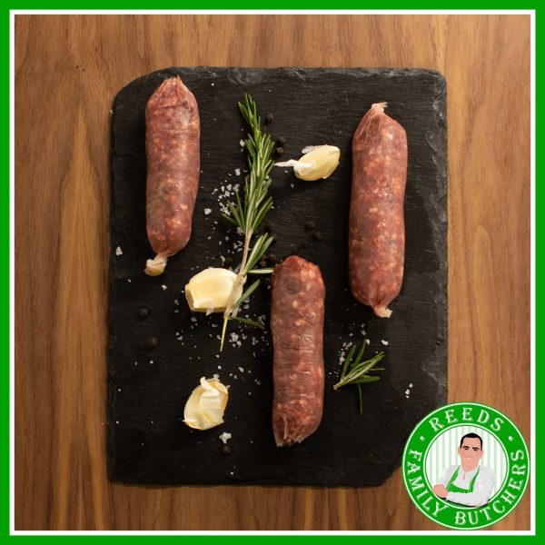 Buy Beef & Onion Sausages - 8 Pack online from Reeds Family Butchers