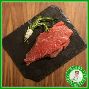 Buy Sliced Braising Steak x 500g online from Reeds Family Butchers