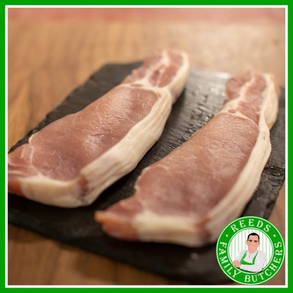 Buy Unsmoked Back Bacon - 8 Rashers online from Reeds Family Butchers